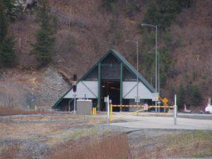 Whittier Tunnel Entrance